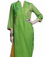 Parrot Green Georgette Suit- Pakistani Casual Clothes