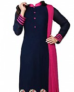 Navy Blue Chiffon Suit- Pakistani Casual Clothes