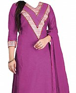 Purple Georgette Suit- Pakistani Casual Clothes