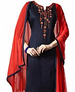Navy Blue Georgette Suit- Pakistani Casual Clothes
