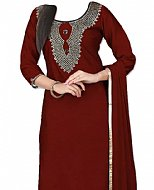 Maroon Chiffon Suit- Indian Dress
