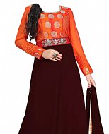 Orange/Chocolate Georgette Suit