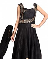 Black Silk Suit- Indian Semi Party Dress