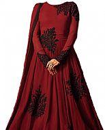 Maroon Georgette Suit- Indian Semi Party Dress