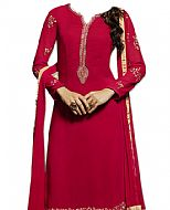 Magenta Georgette Suit- Indian Semi Party Dress