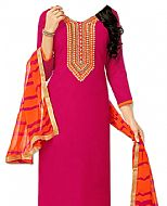 Pink/Orange Georgette Suit- Indian Semi Party Dress