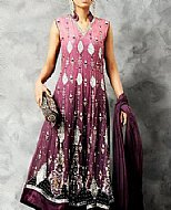 Mauve Crinkle Chiffon Suit- Pakistani Party Wear Dress