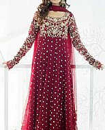 Magenta Chiffon Suit- Pakistani Party Wear Dress