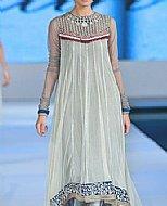Sky Blue Crinkle Chiffon Suit- Pakistani designer clothing