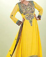 Yellow Crinkle Chiffon Suit- Pakistani designer clothing