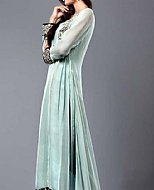 Light Sea Green Crinkle Chiffon Suit- Pakistani designer clothing