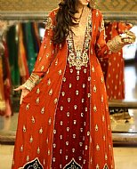 Rust/Maroon Chiffon Suit- Pakistani Party Wear Dress