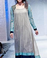 Light Grey Net Suit- Pakistani designer clothing