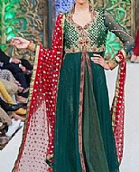 Teal Crinkle Chiffon Suit- Pakistani designer dress