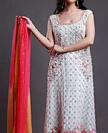 Off-white Crinkle Chiffon Suit- Indian Designer clothes