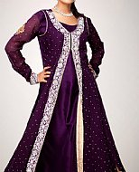 Indigo Crinkle Chiffon Suit- Pakistani Party Wear Dress