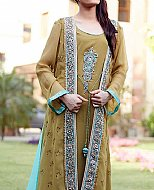 Beige Crinkle Chiffon Suit- Pakistani Party Wear Dress