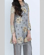 Grey Net Suit- Pakistani Party Wear Dress