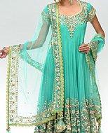 Light Sea Green Net Suit- Pakistani Formal Designer Dress