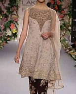 Ivory Crinkle Chiffon Suit- Pakistani Party Wear Dress