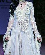 Light Blue Crinkle Chiffon Suit- Pakistani Formal Designer Dress