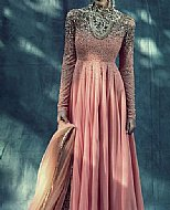 Peach Crinkle Chiffon Suit- Designer dress