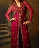 Magenta Crinkle Chiffon Suit- Indian Designer clothes