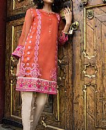 Rust Crinkle Chiffon Suit- Pakistani designer dress