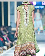 Pistachio Crinkle Chiffon Suit- Pakistani designer dress