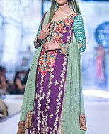 Indigo/Turquoise Chiffon Suit- Pakistani Formal Designer Dress