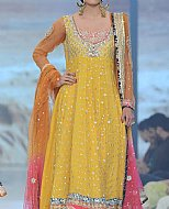 Yellow Chiffon Suit- Designer dress
