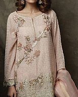Light Pink Jamawar Suit- Indian Designer clothes