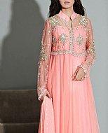 Pink Crinkle Chiffon Suit- Pakistani Formal Designer Dress