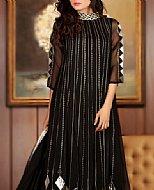 Black Crinkle Chiffon Suit