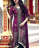 Indigo Crinkle Chiffon Suit- Pakistani Formal Designer Dress