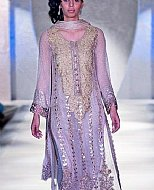 Lilac Crinkle Chiffon Suit- Pakistani Party Wear Dress