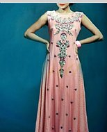 Pink Crinkle Chiffon Suit- Pakistani Party Wear Dress