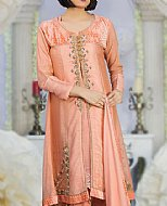 Peach Silk Suit- Pakistani Party Wear Dress