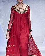 Magenta Crinkle Chiffon Suit- Pakistani Formal Designer Dress