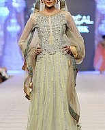 Light Green Crinkle Chiffon Suit- Pakistani Formal Designer Dress