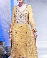 Golden Chiffon Suit- Pakistani Party Wear Dress