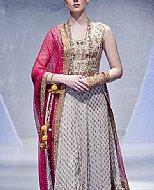 Grey Crinkle Chiffon Suit- Pakistani Party Wear Dress