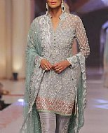 Grey Crinkle Chiffon Suit- Pakistani Party Wear Dress