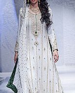 Off-White Crinkle Chiffon Suit- Pakistani Bridal Dress