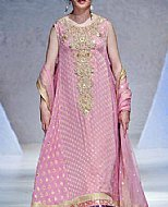 Pink Jamawar Chiffon Suit- Pakistani Party Wear Dress