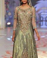 Pistachio Organza Suit- Pakistani Party Wear Dress