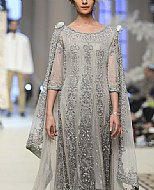 Grey Chiffon Suit- Pakistani Party Wear Dress