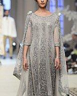 Grey Chiffon Suit- Pakistani Formal Designer Dress