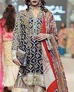 Navy Blue Chiffon Suit- Pakistani Formal Designer Dress