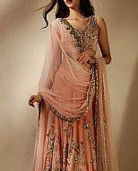 Peach Chiffon Suit- Pakistani Party Wear Dress
